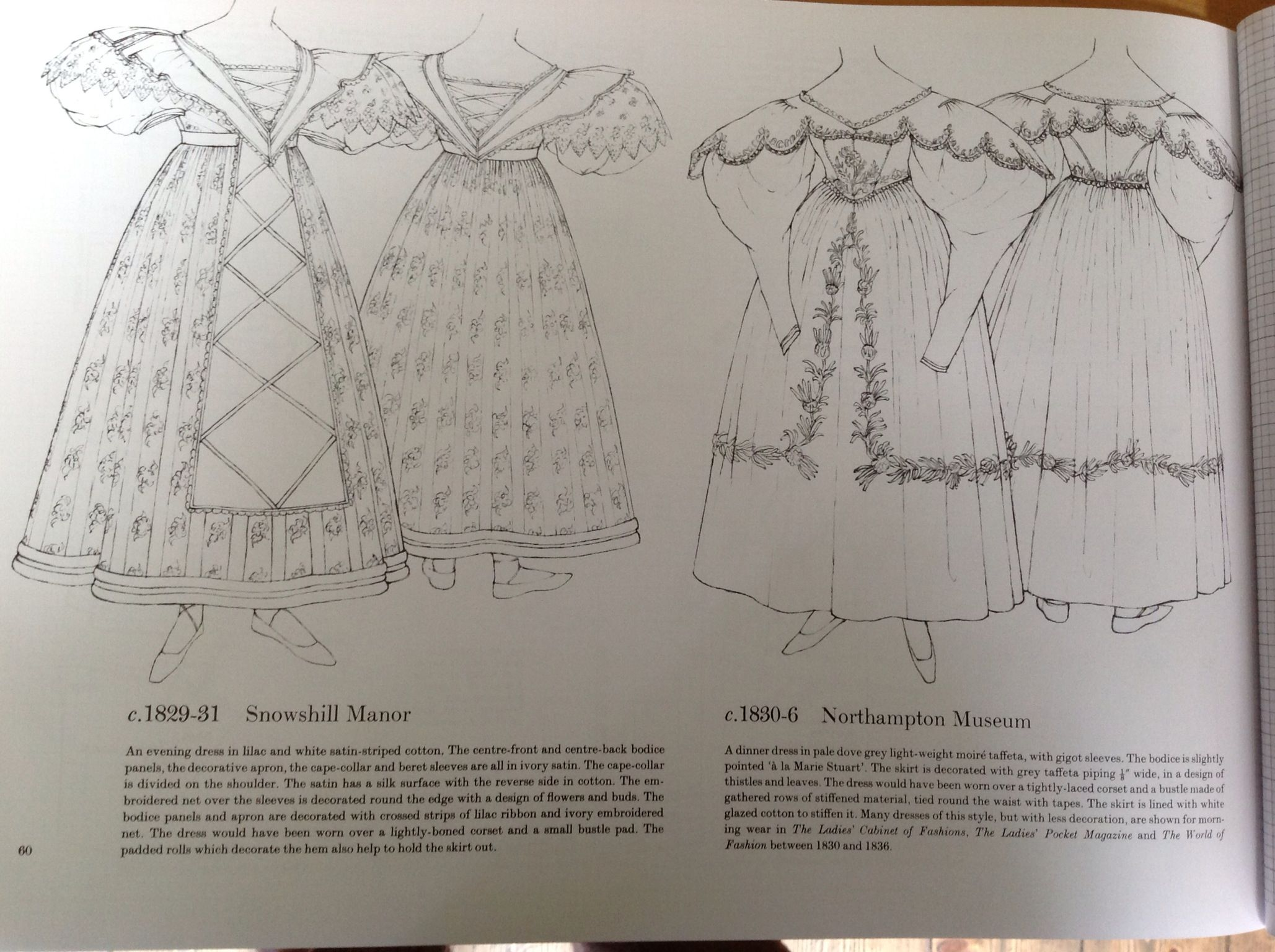 From Patterns of Fashion 1, by Janet Arnold
