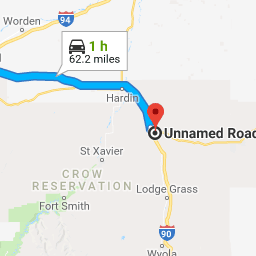 Billings, Montana to Unnamed Road, Garryowen, MT 59031 - Google Maps ...