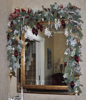 Beautiful Mirror Decoration Beautiful Christmas Decorations