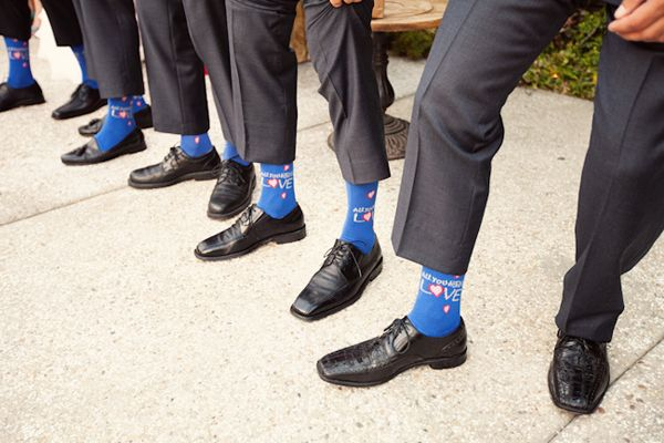 Fun socks for the groom and groomsmen