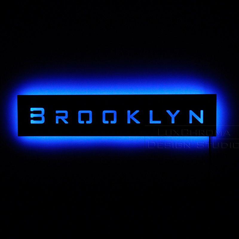 dac9b0836c3d6 Brooklyn Sign | tweet brooklyn lighted sign lighting color blue ...