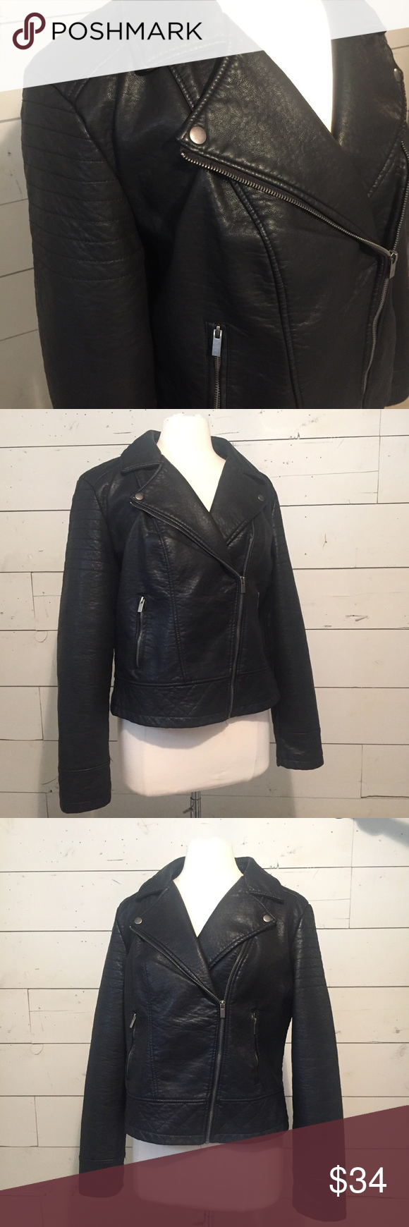 Target Faux Leather Motorcycle Jacket Faux Leather Motorcycle Jacket Jackets Clothes Design [ png ]