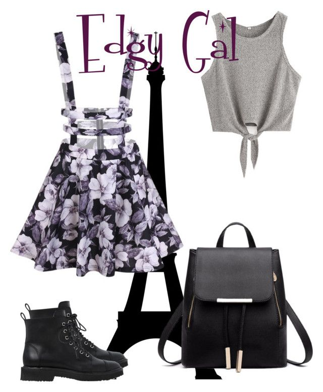 """Edgy Gal"" by sweisspetra on Polyvore featuring beauty and Giuseppe Zanotti"