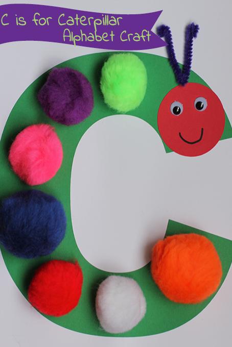 Alphabet craft c is for caterpillar simple crafts for Caterpillar crafts for preschoolers