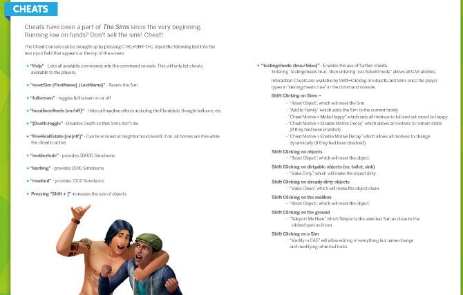 The Sims 4 Cheats for Game complete official list from the