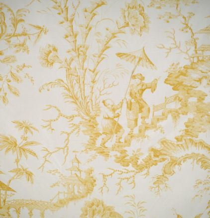 Pillemont toile...hand printed fabric.  ONLY $181.00 per yard....!