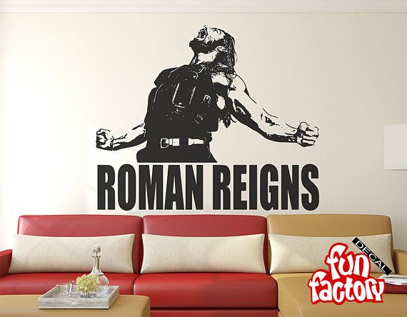 Roman Reigns Wall Decal Sticker Wrestlemania Wwe Superstar Wwe