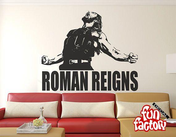 Roman Reigns Wall Decal Sticker Wrestlemania Wwe Superstar Wwe