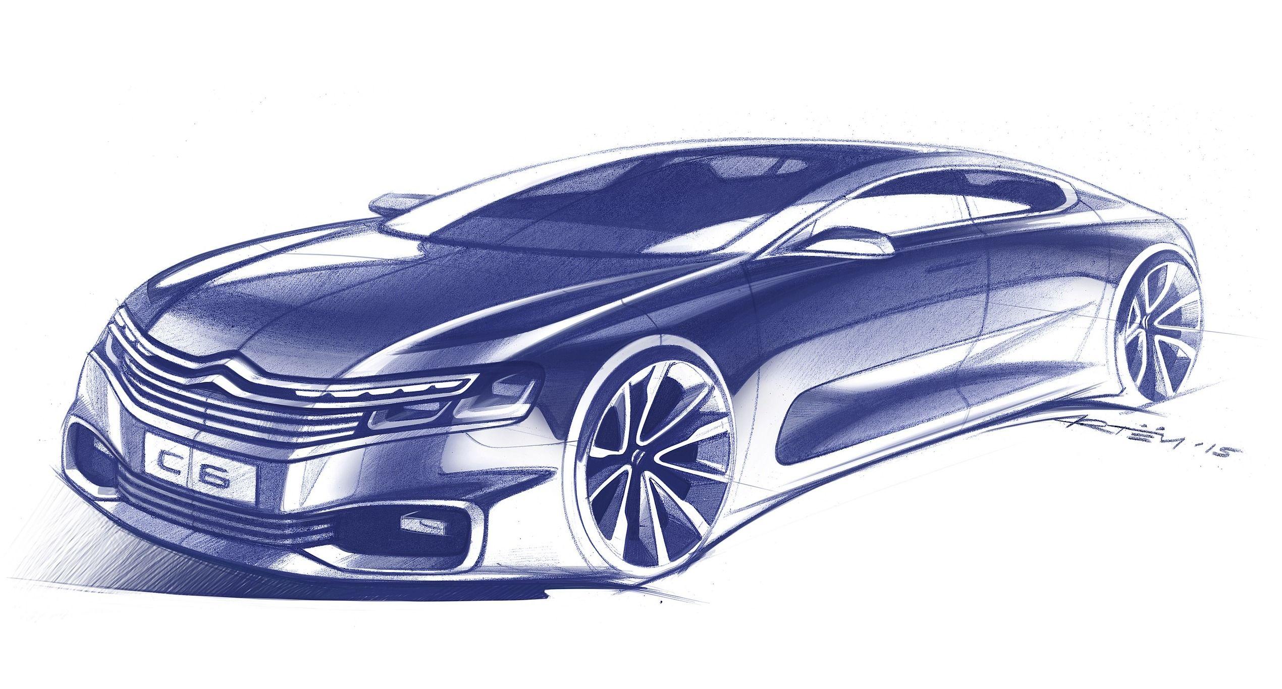 2017 citroen c6 design sketch pinterest car sketch. Black Bedroom Furniture Sets. Home Design Ideas