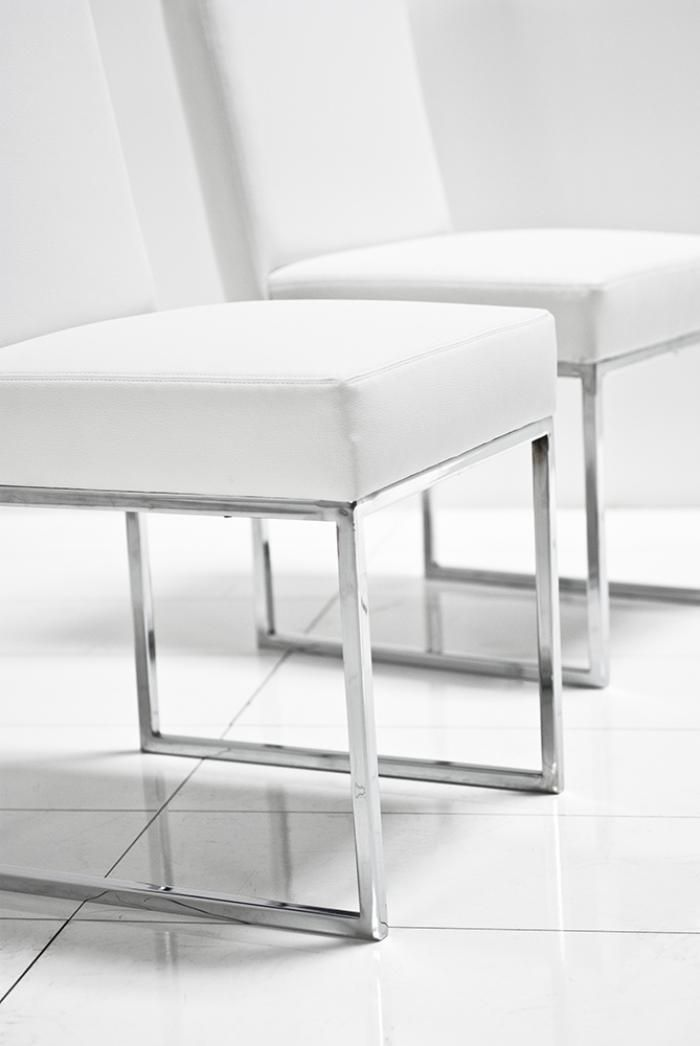 white leather dining chairs. 007 Dining Chair In White Leather 18\ Chairs U