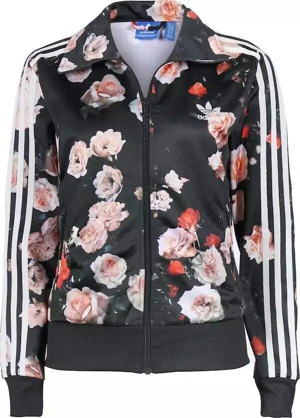 adidas rose print top
