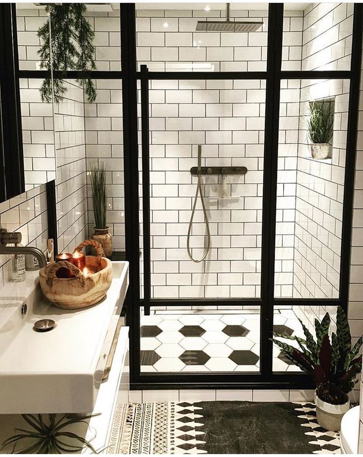 Black and White Bathroom #12thtribevibes #shop12thtribe #dreambathrooms