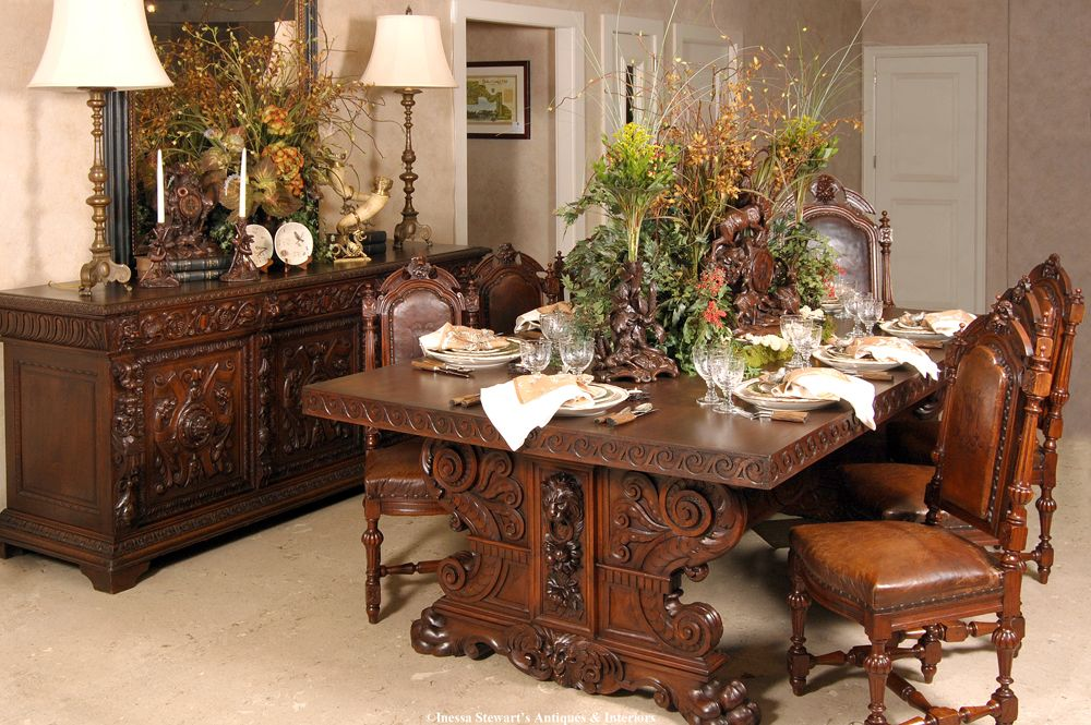 Inessa S Tablescapes Antique Dining Room Set