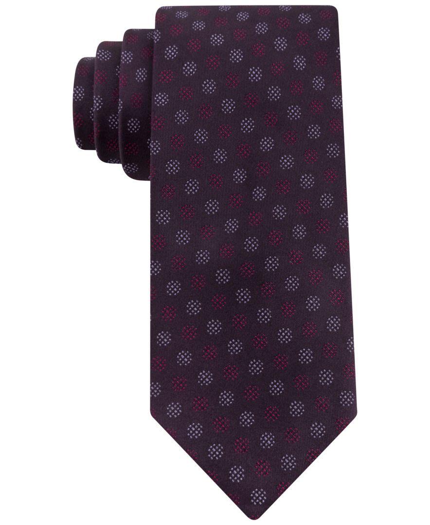 Kenneth Cole Reaction Festive Dot Slim Tie