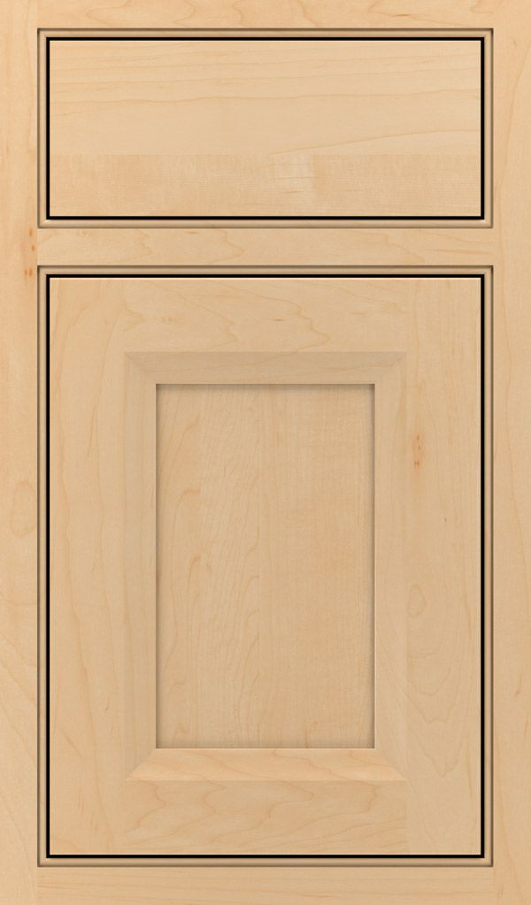Huchenson Maple Beaded Inset Cabinet Door in Natural ...
