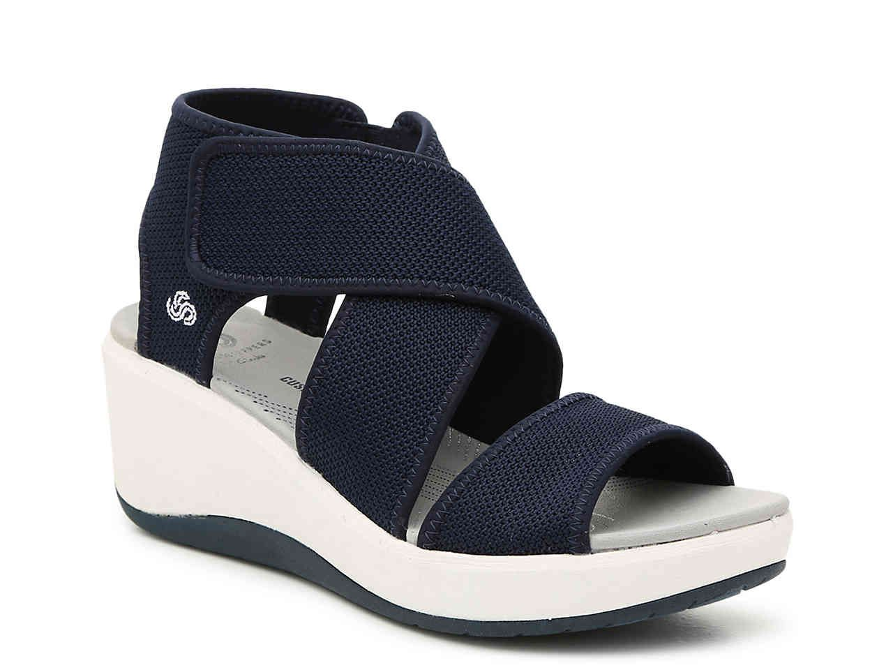 90981f15fe8b Women Step Cali Palm Wedge Sandal -Navy