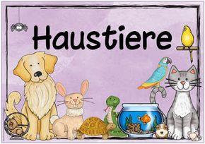Themenplakat Haustiere Heimtiere Heimtiere Haustiere