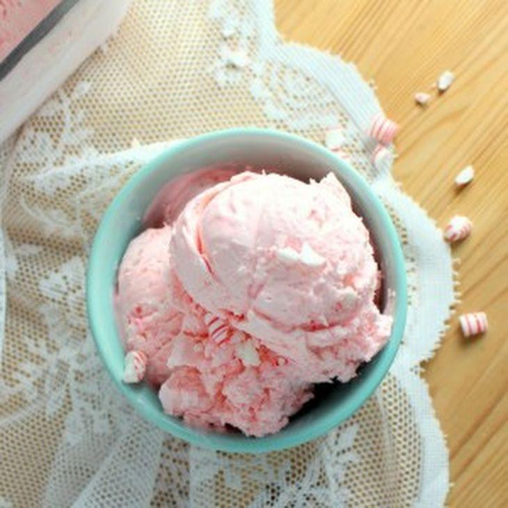 No Churn Peppermint Ice Cream Recipe Yummly Recipe Peppermint Ice Cream Ice Cream Caramel Pecan Sticky Buns
