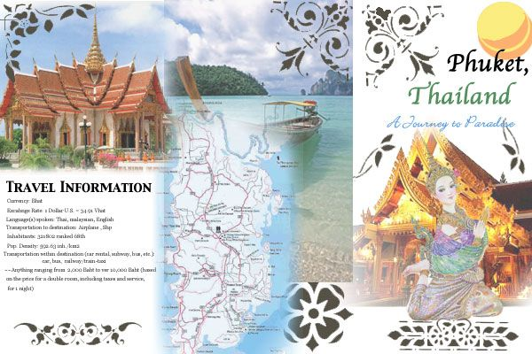 Phuket, Thailand Finished | Travel Guide Design & Brochure