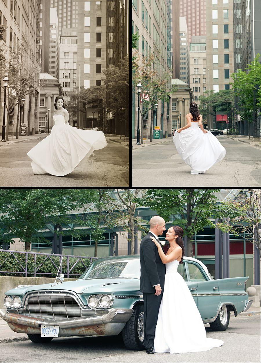 Downtown Toronto street wedding photography Wedding