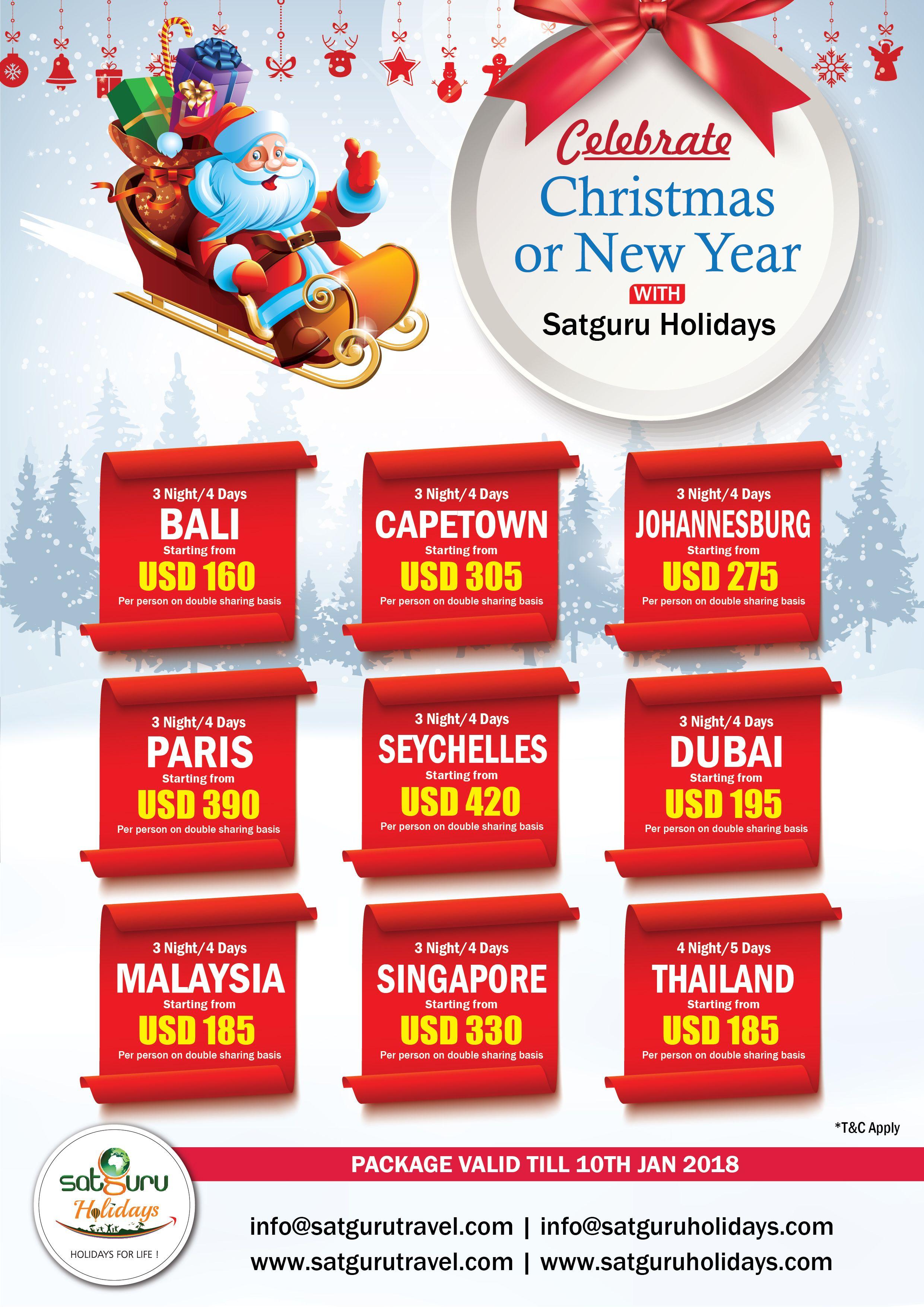 Idea by Satguru Holidays on Christmas & New Year 2018