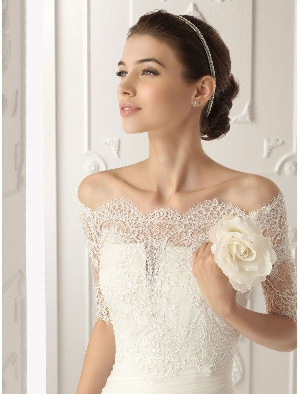 Wedding Dress Removable Lace Overlay : Dresses wedding dress with removable off the shoulder lace