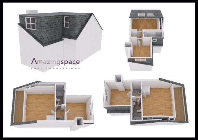 L Shaped Dormer En Suite To Rear 3d Loft Conversion Plans Loft Conversion Plans Loft Conversion Layout Loft Conversion