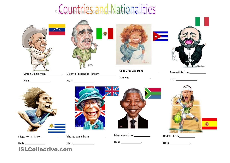 Countries And Nationalities Ii Com Imagens