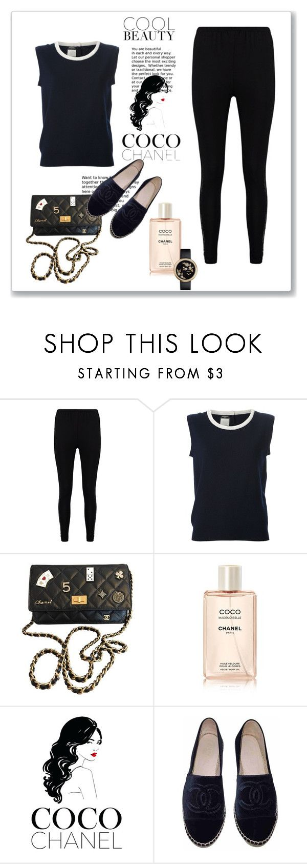 """""""coco chanel"""" by suga-r ❤ liked on Polyvore featuring Boohoo, Chanel and contestentry"""
