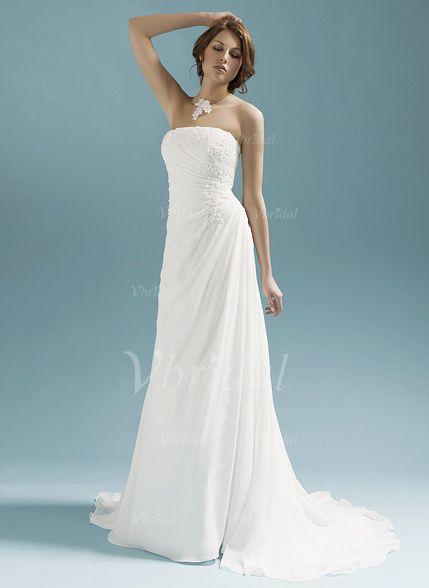 Wedding Dresses - $147.66 - A-Line/Princess Strapless Sweep Train ...