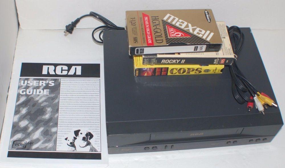 nice rca vr352 vhs vcr recorder bundle with manual a v cables rh pinterest com Manual RCA ANT1650R RCA Digital Converter Box Manual