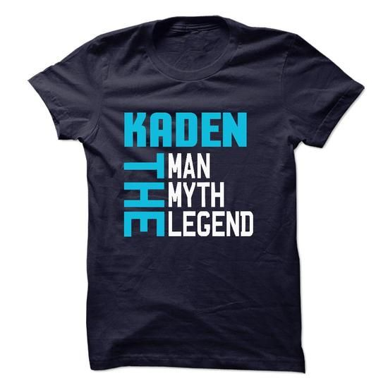 KADEN The Man-The Myth-The Legend 2015 Design - #tshirt text #tshirt print. LIMITED TIME PRICE => https://www.sunfrog.com/Names/KADEN-The-Man-The-Myth-The-Legend-2015-Design.html?68278