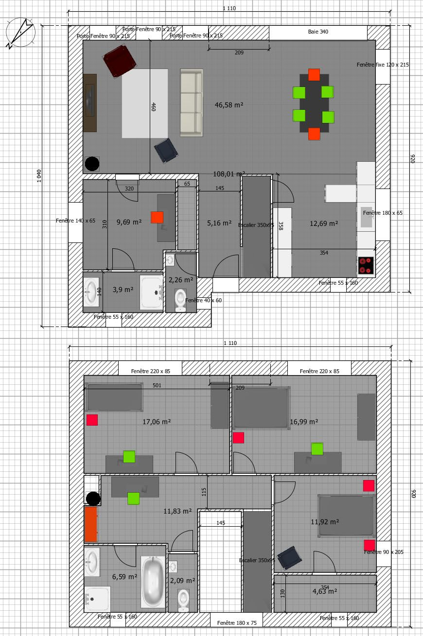 Plan maison cubique gratuit architecture pinterest for Plan maison cubique
