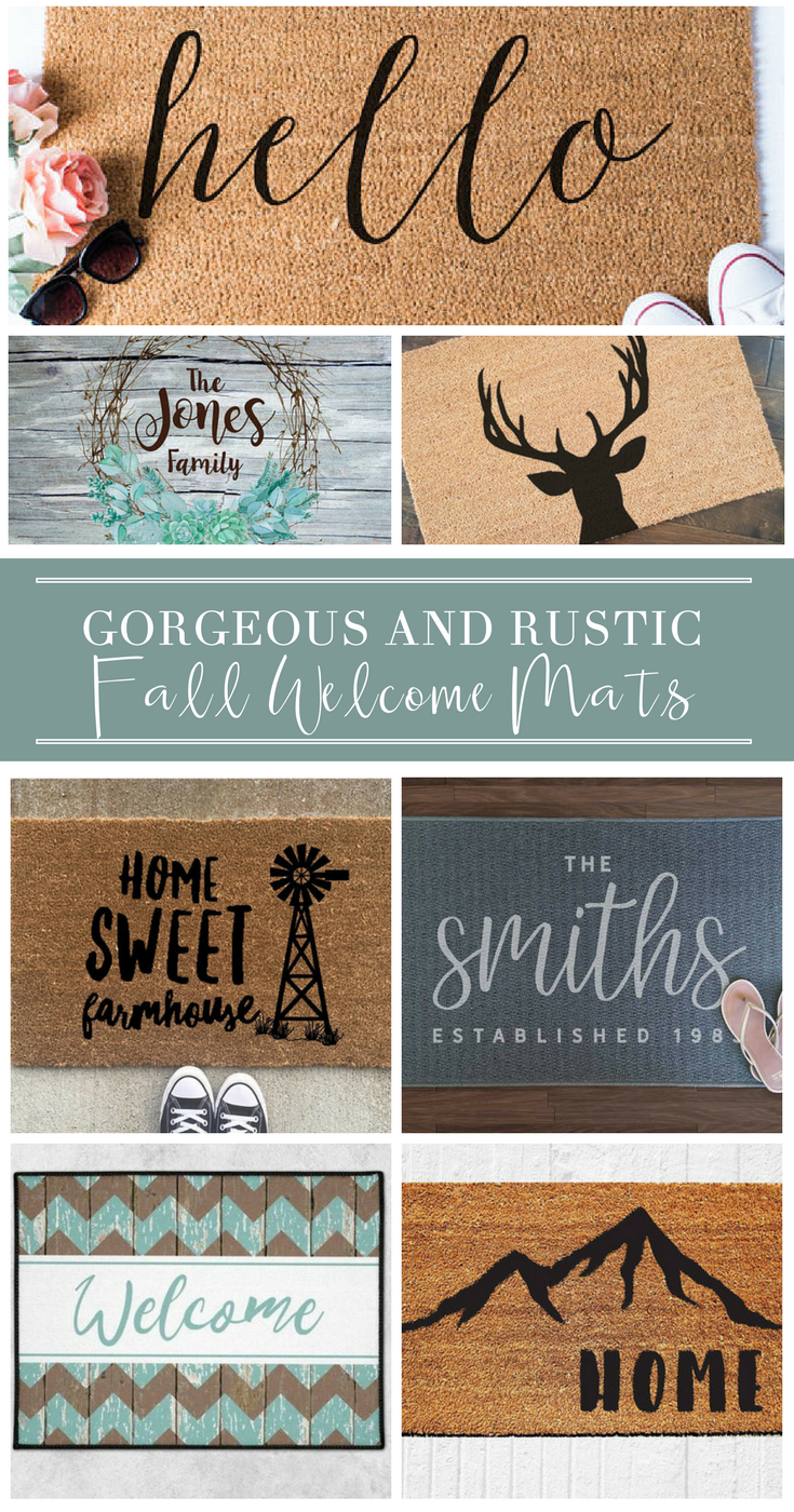 These Welcome Mats Are Cute Country And Perfect For Outdoor Farmhouse Ideas Great For Diy Rustic Deco Shabby Chic Living Room Shabby Chic Living Shabby Chic