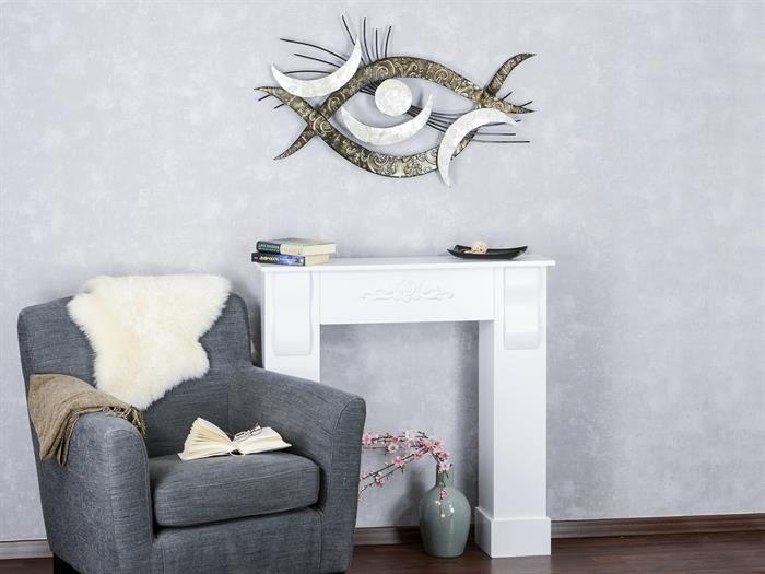 Metall Deko Wohnzimmer ~ Formano muschel auge metall wanddeko wanddeko wohnzimmer