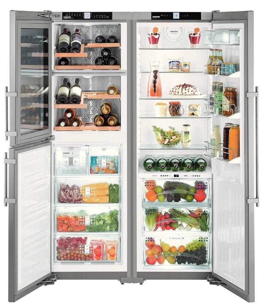 Inredning kyl och frys side by side : LIEBHERR Free Standing Fridge Freezer Frost Free SBSES7165 ...