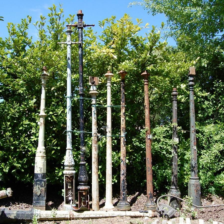 Selection Of Antique And Reclaimed Cast Iron Lamp Posts