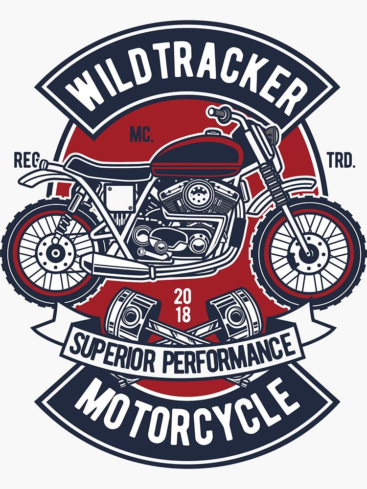 Wildtracker Motorcycle Superior Performance Sticker By