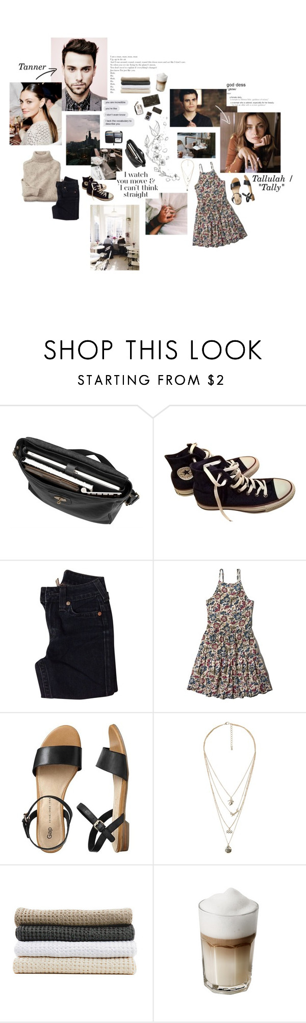 """""""I watch you move and I can't think straight."""" by sarahstardom ❤ liked on Polyvore featuring Mulberry, Sebastian Professional, Converse, True Religion, Abercrombie & Fitch, Gap, MANGO, Abyss & Habidecor and 12"""