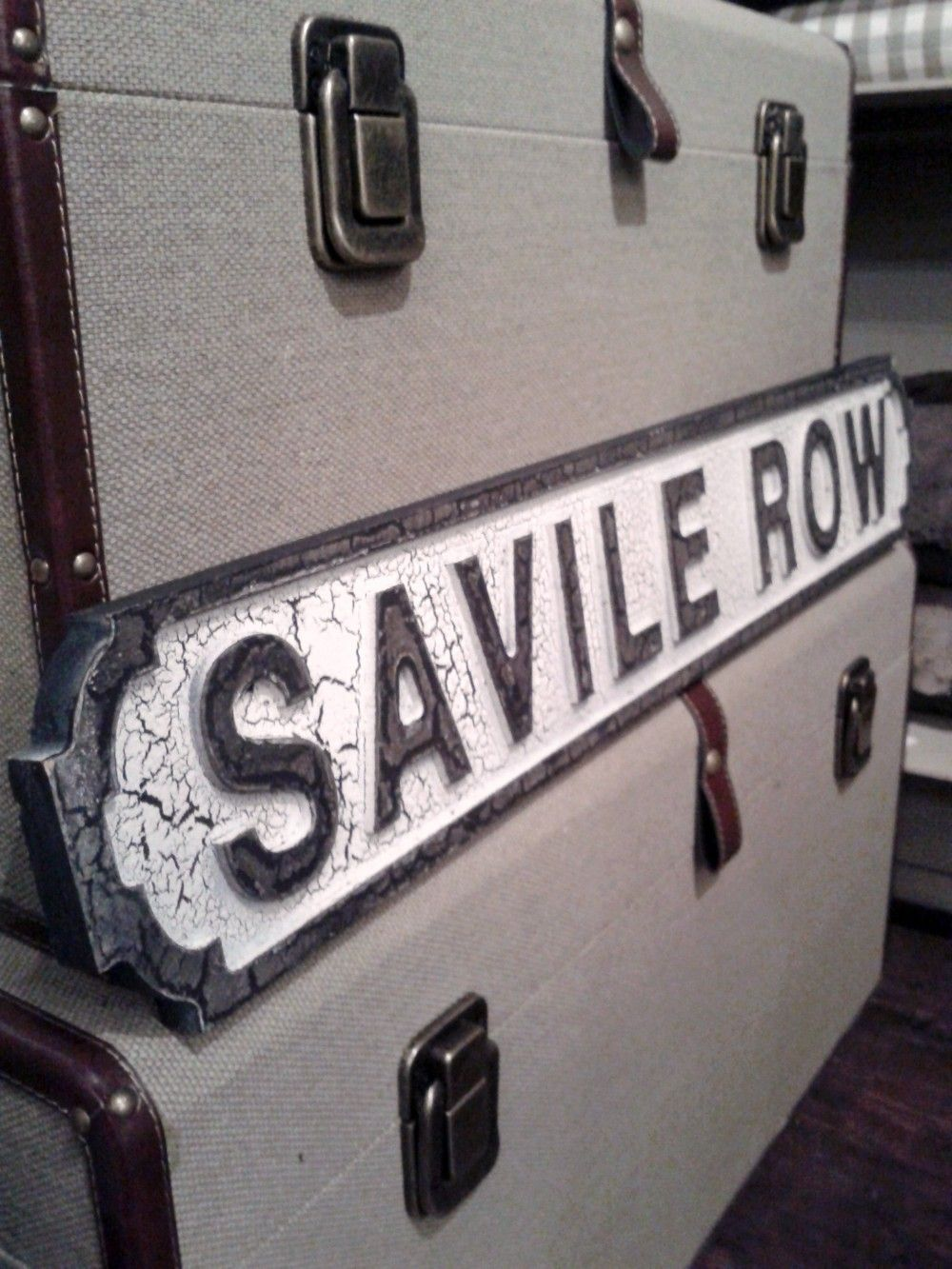 London vintage road signs - several places/ street names available   Pomponette   leicester #roadsign #vintageroadsign #savilerow