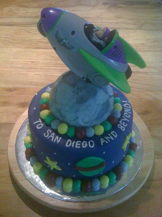 "My going away buzz lightyear cake! (Made by Nikki Harder)  ""To San Diego and beyond..."" #buzz lightyear #cake #toy story"