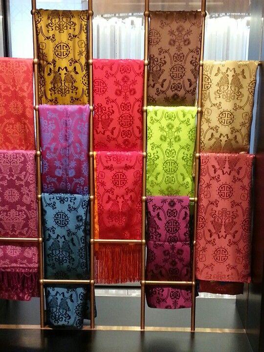 fc61c34d600de Silk scarves Shanghai Tang | Inspiration Doodle Me in 2019 | Scarf display,  Showroom design, Craft booth displays