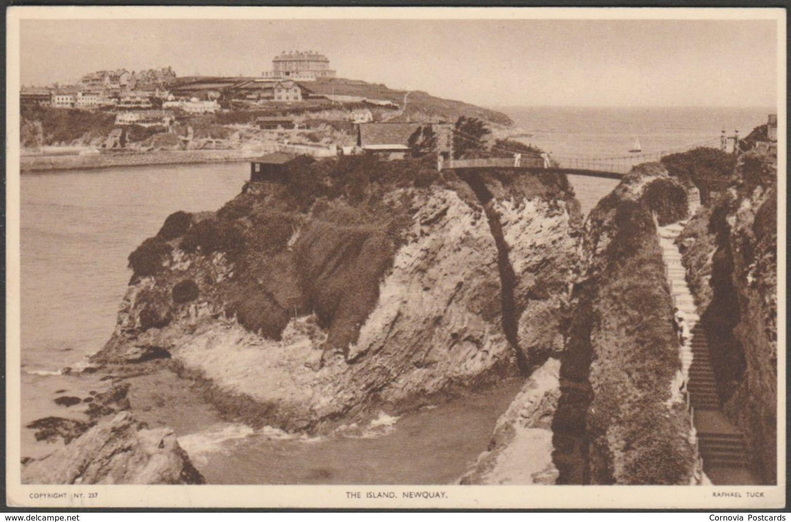 The Island, Newquay, Cornwall, c.1940s - Tuck's Postcard