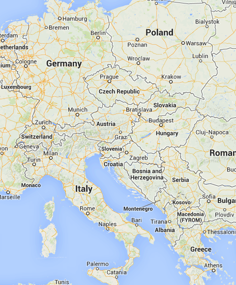 Map Of Scenic Drives In Europe Scenic Drive Scenic Cluj Napoca
