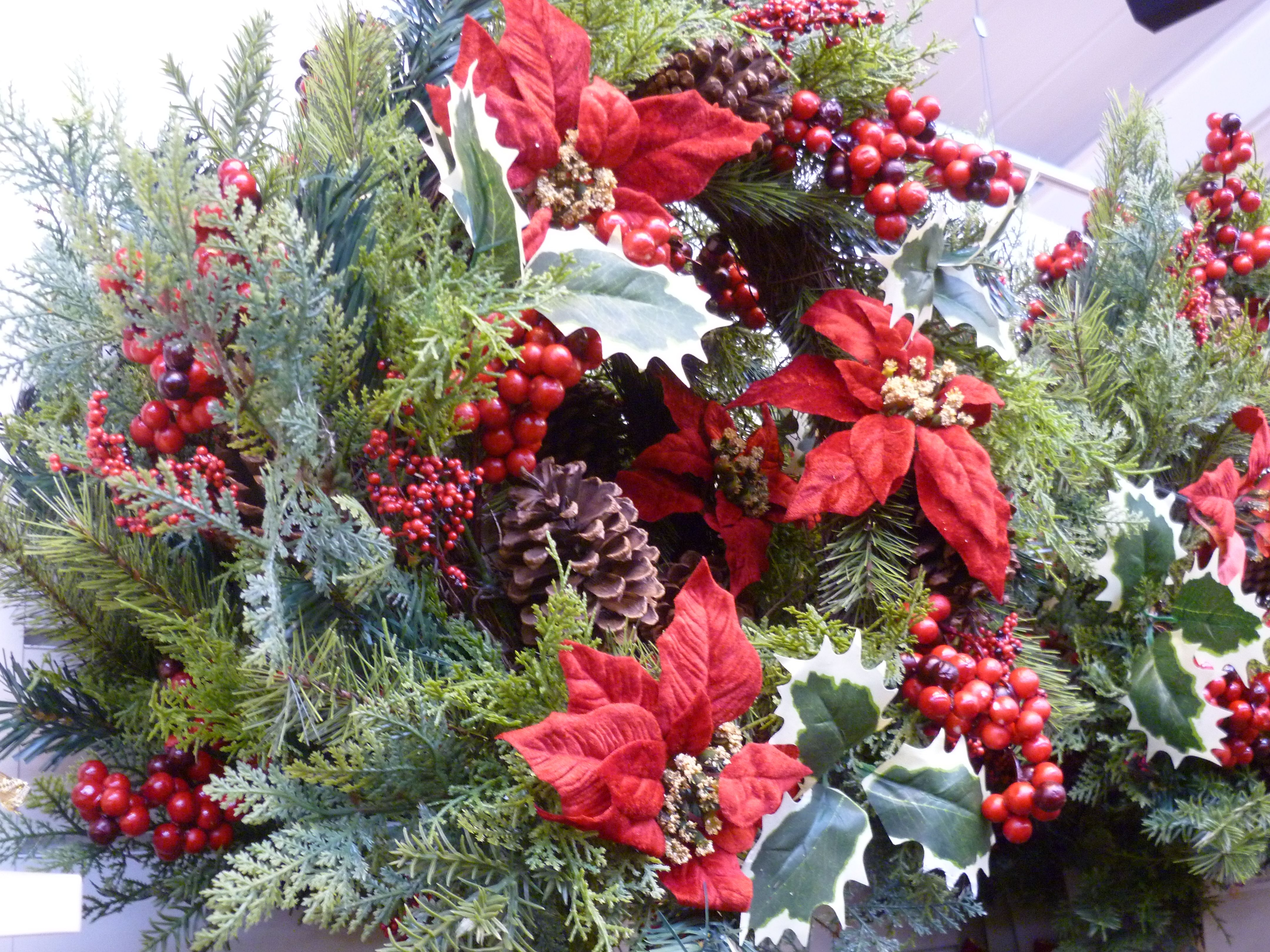 Realistic artificial wreaths and table centres | It\'s beginning to ...