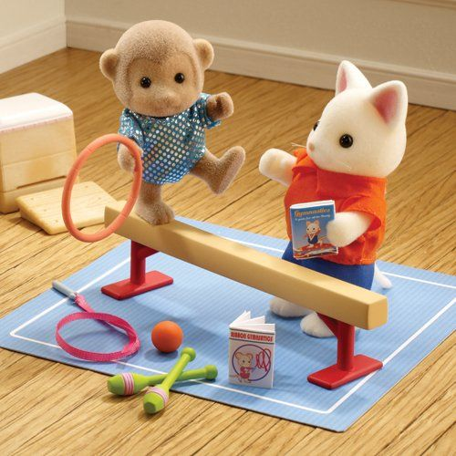 Amazon.com: Sylvanian Families Sylvanian Games Gymnastics Set: Toys & Games