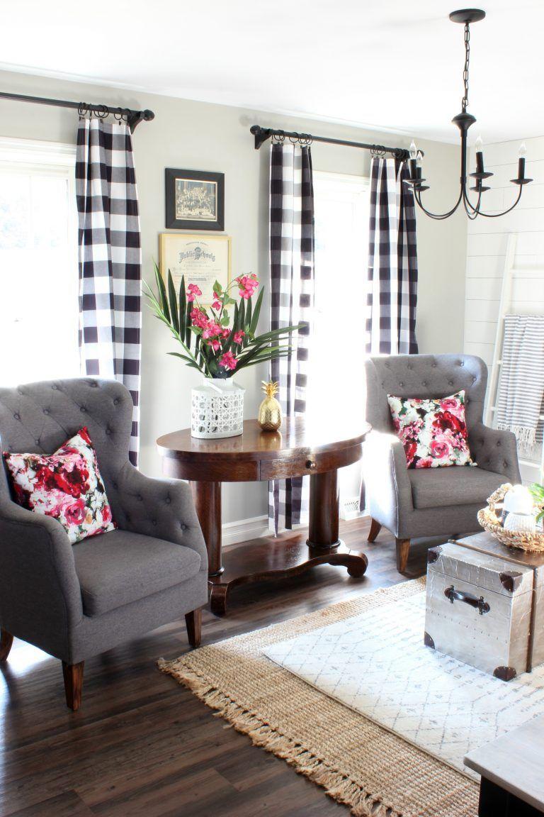 2017 Summer Home Tour Modern Farmhouse Living Room Decor Modern