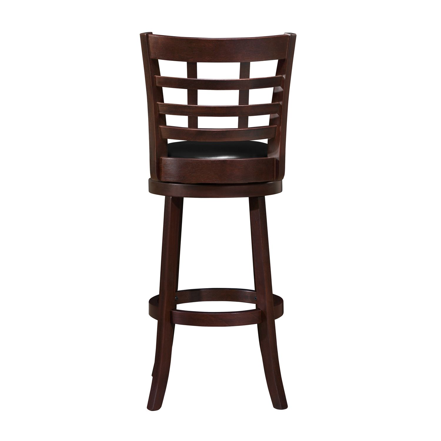 Swivel 29 Cherry Wood Frame Barstool Counter Height Stools