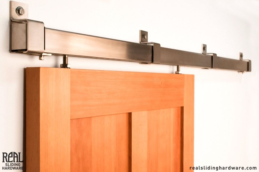 Barn Door Hardware In Oil Rubbed Bronze Stainless Steel And Black Finishes Sliding Styles Include Box Rail Flat Track