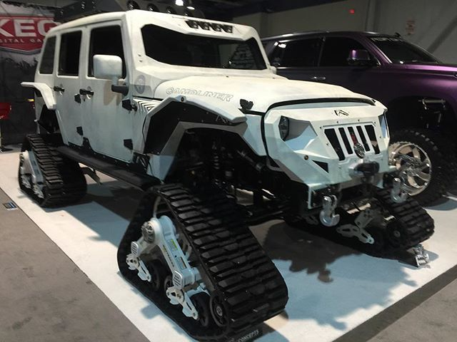 How about the Ultimate winter exploration Jeep? #sema2016 ...